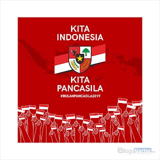 Hari Lahir Pancasila 2019 Logo vector (.cdr)