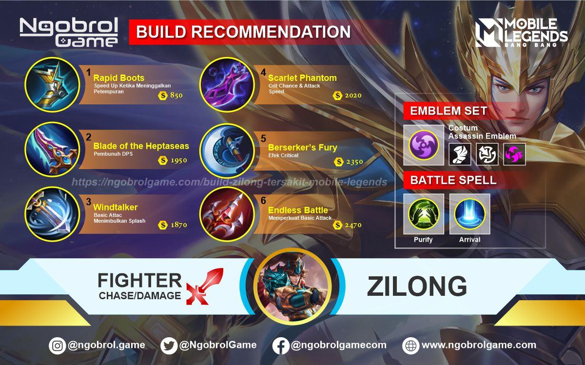 Build Zilong Savage Mobile Legends