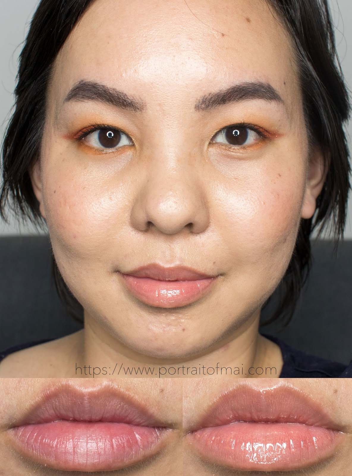 Persona Cosmetics Peach Lip Gloss Swatch