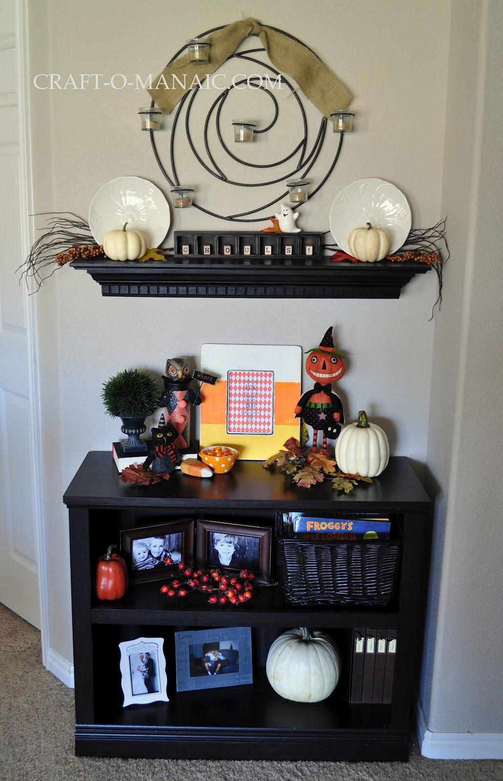 Halloween Decor Bookcase and Shelf - Craft-O-Maniac