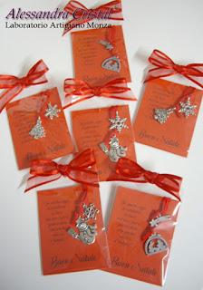 segnalibri cordino ciondolo NATALE regali