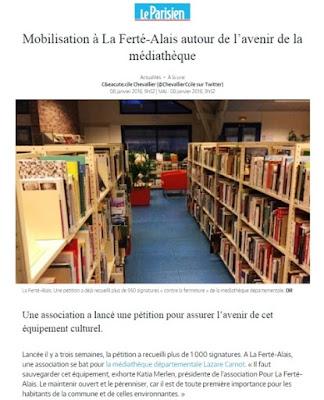 http://www.leparisien.fr/la-ferte-alais-91590/mobilisation-a-la-ferte-alais-autour-de-l-avenir-de-la-mediatheque-08-01-2018-7488621.php