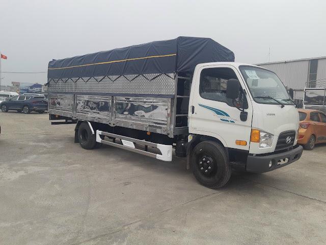 Giá lăn bánh xe tải Hyundai 110XL thùng bạt