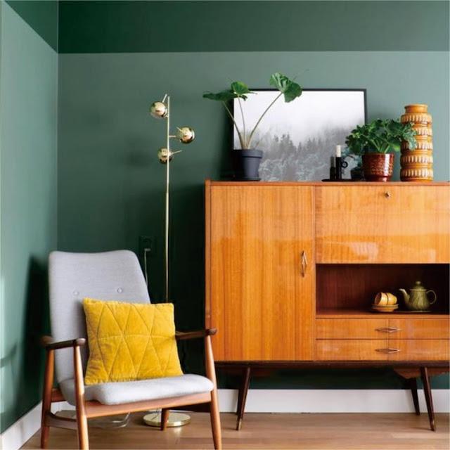 Warna Cat Interior Rumah Minimalis Hijau