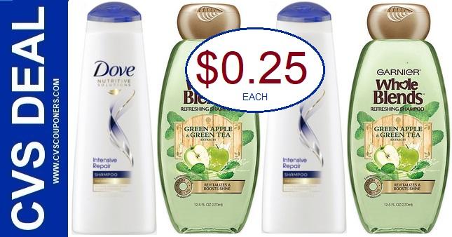 Cheap Dove & Garnier Shampoo CVS Deals