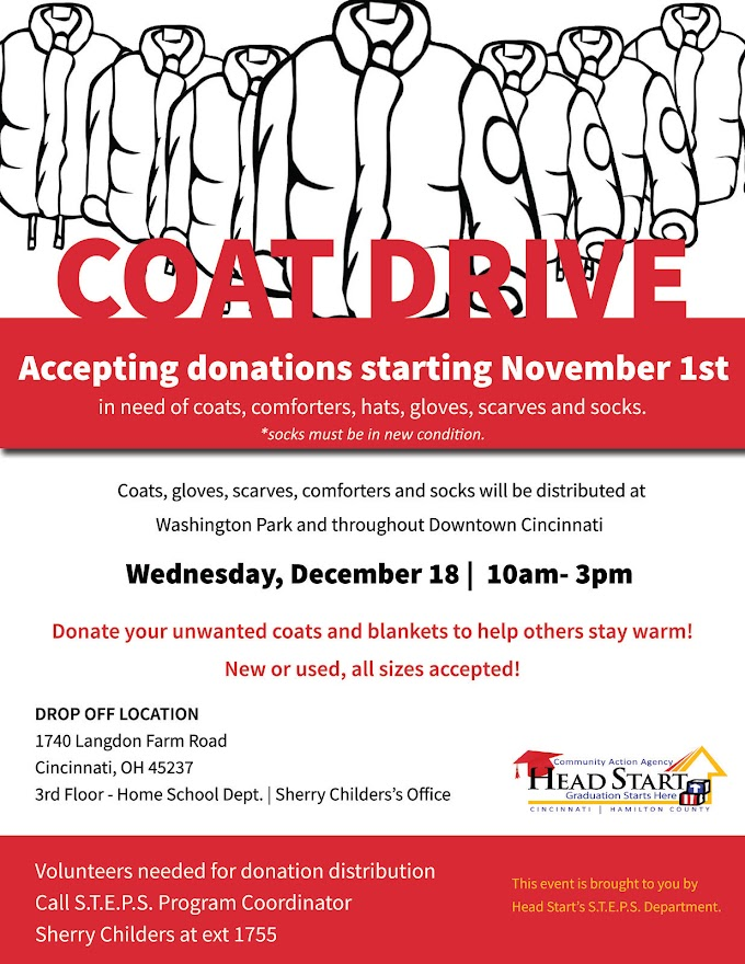 STEPS Coat Drive - Donate Before December 18, 2019