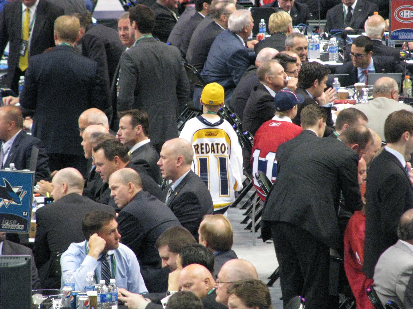 d9f0c754e The Nashville Predators, who kinda-sorta had their new jersey's leaked on  Thursday, had some fans in attendance at the NHL ...