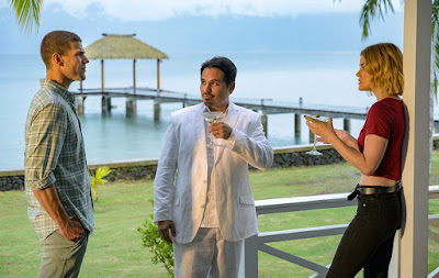 Austin Stowell, Michael Peña, and Lucy Hale in Fantasy Island (2020)