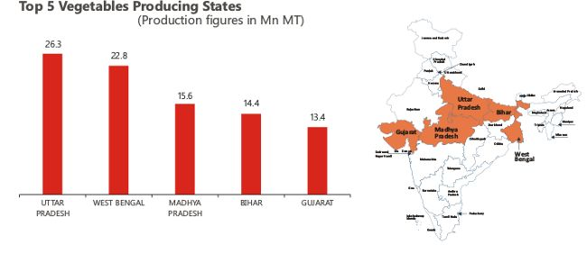 Top 5 Vegetables Producing States in India