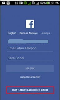Masuk Facebook di Hp Android