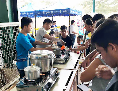 Solane provides cooking stations for Taal evacuees