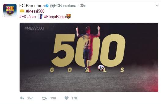 Lionel Messi Scores Club Record 500th Goal For Barcelona