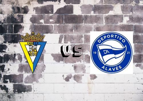 Cádiz vs Deportivo Alavés  Resumen