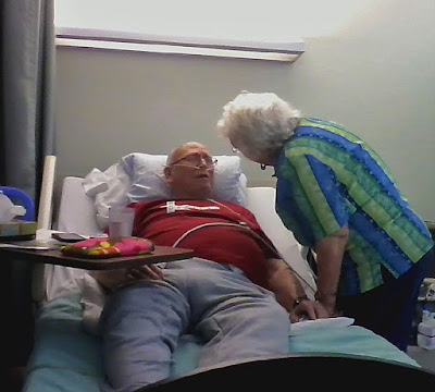Mom & Dad's 71st anniversary spent in Rehab