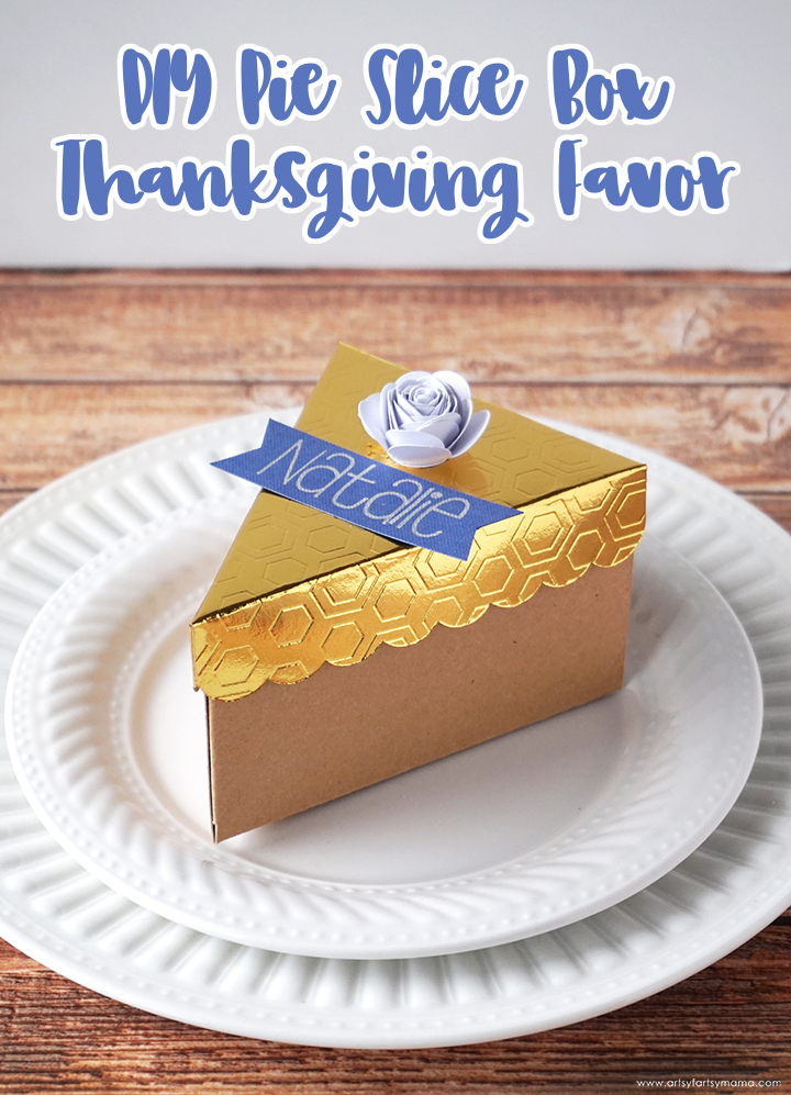 Pie Slice Box Thanksgiving Favors