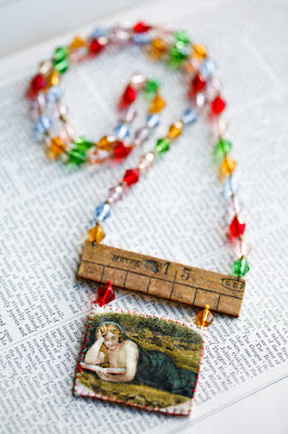 Booklover necklace by Little Burrow Designs