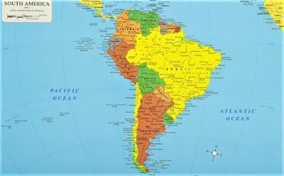 peta benua amerika selatan