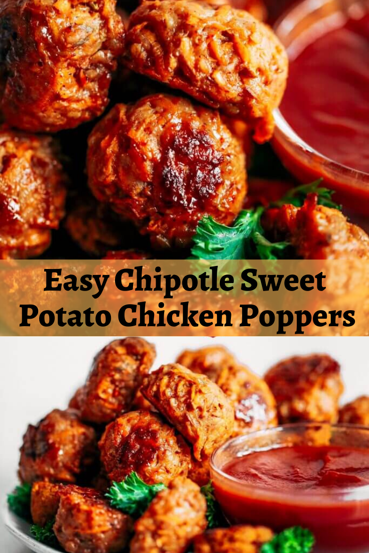 Easy Chipotle Sweet Potato Chicken Poppers