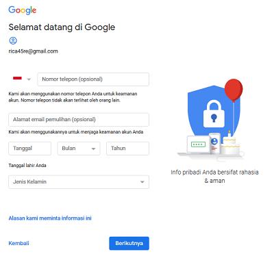 cara buat akum gmail