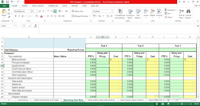 Return on Investment Template for Excel
