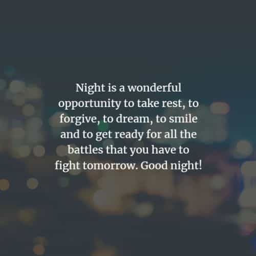 50 Goodnight quotes and sayings for him and her