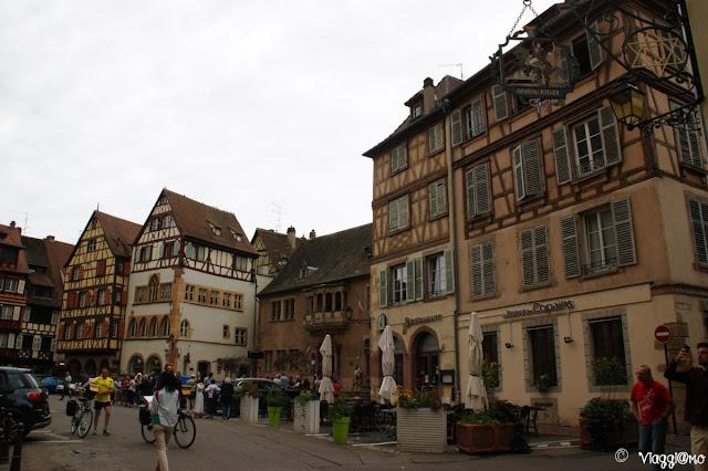 Gli edifici a graticcio introno alla Piazza della Cattedrale