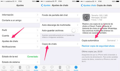 restaurando en el iphone