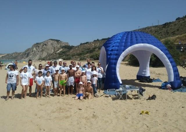 Siculiana: Il WWF pulisce la spiaggia per l'arrivo delle tartarughe