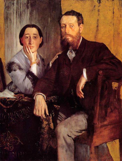 Эдгар Дега - Эдвард и Тереза Морбилли (1867)