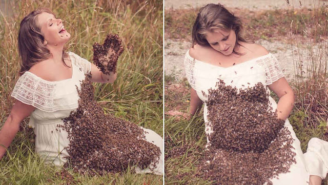 Emily Mueller que posou com 20 mil abelhas sofre aborto espontâneo