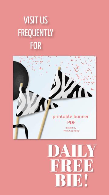 daily freebie by Print Cut Hang