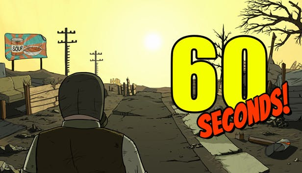 60 Seconds! is a dark comedy atomic adventure of scavenge and survival. Collect supplies and rescue your family before the nuke hits. Stay alive ….
