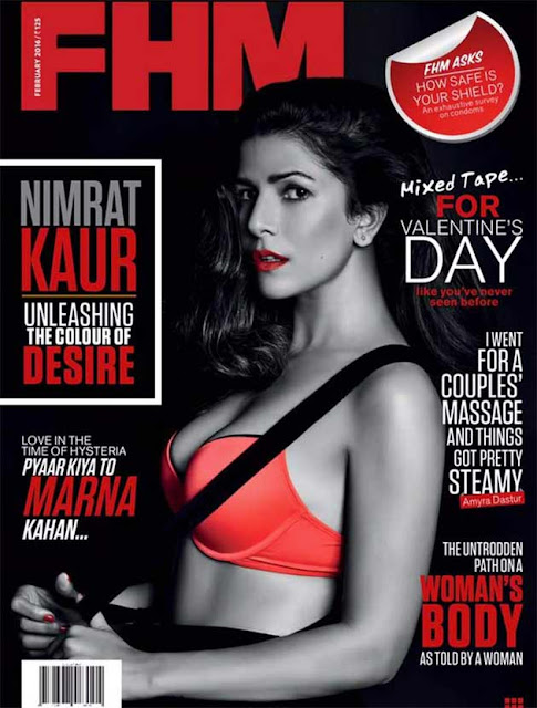 Nimrat Kaur On The Cover Of FHM India Magazine February 2016