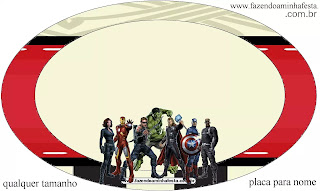 Avengers Party Free Printable Cupcake Wrappers and Toppers.