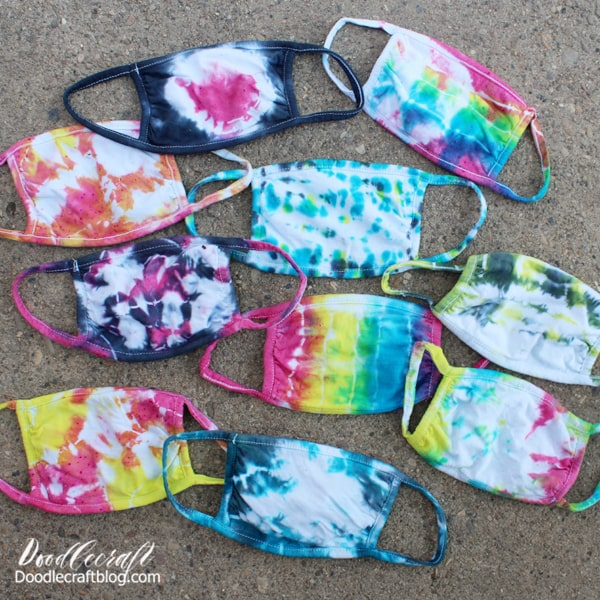 How to Tie Dye Face Masks with Tulip Soda Ash Kit