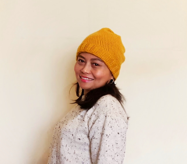 Knit Up Stitches Around Neckline : Velvet Ribbon: Hand Knit Sweater and Hat