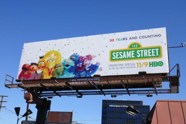 Sesame Street season 50 billboard