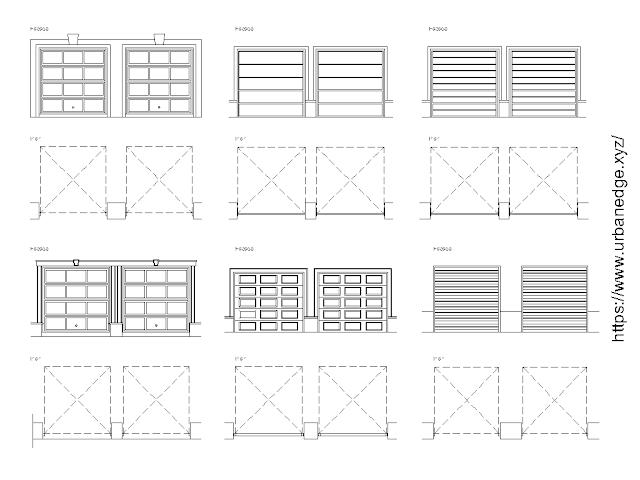 Garage doors free Autocad blocks download -10+ free garage door cad blocks