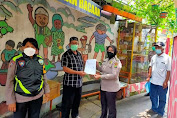 Polres Metro Jakarta Barat Berikan Bantuan Alkes Pada Kampung Tangguh Jaya Jembatan Lima