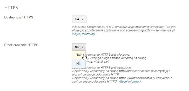 SSL dostępny na Bloggerze dla niestandardowych domen - przekierowanie z HTTP na HTTPS