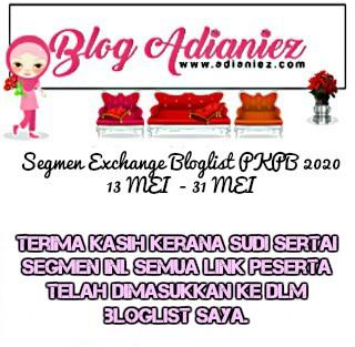Jom Blogwalking & Follow | 5 Peserta Bertuah Segmen Exchange Bloglist PKPB 2020 by Blog Adianiez