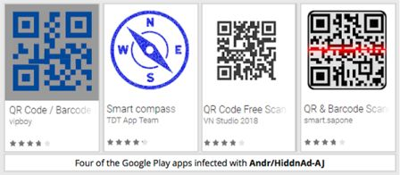 According to Sophos, malware known as Andr / HiddnAd-AJ infected more than one million Android users through the Google Play Store directly before being removed from the official store.