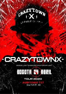 Concierto de CRAZY TOWN X en Bogota 2020