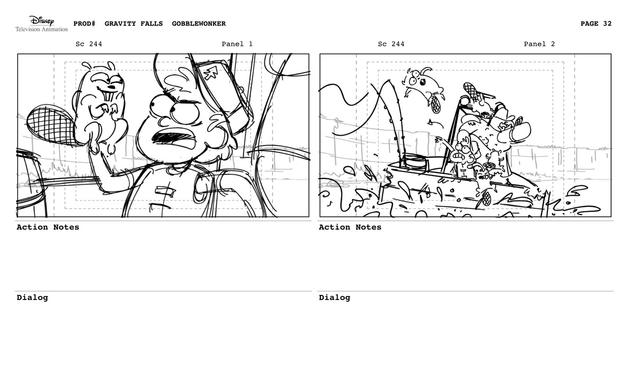 Flooby Nooby: Gravity Falls Storyboards and Models