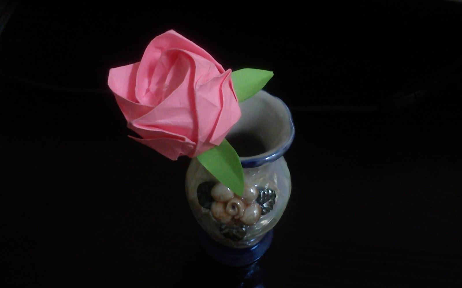 فن الأوريجامى ORIGAMI: Origami Kawasaki Rose - photo#43