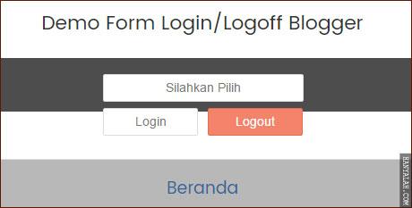 Panduan  membuat fitur login/logout blogger ala Newbie