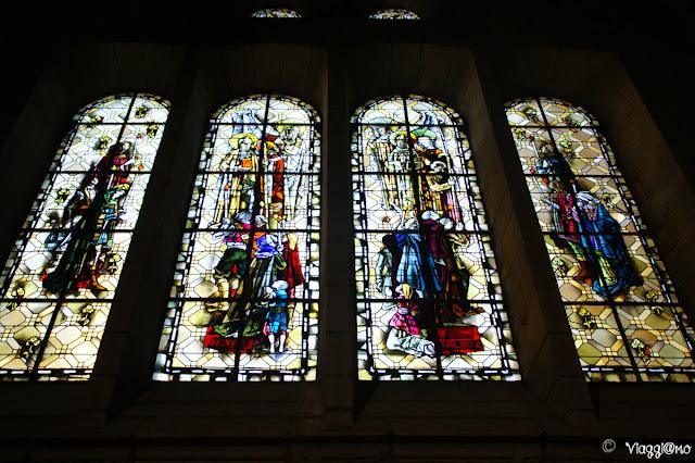 Vetrate all'interno della Cattedrale di Saint Malo