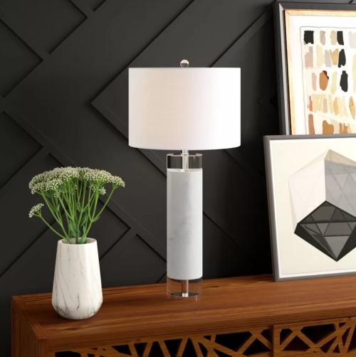 Marrone Marble Crystal Table Lamp