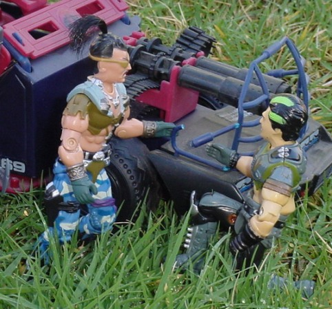 1986 Dreadnok Thunder Machine, 1995 Mortal Kombat Movie Edition Dhalsim, Sgt. Slauther, Triple T, 2004 Convention Zanzibar
