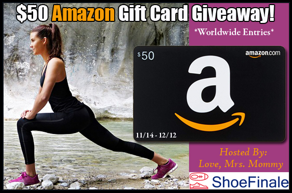 Shoe Finale $50 Amazon Gift Card Giveaway! Worldwide Entries!